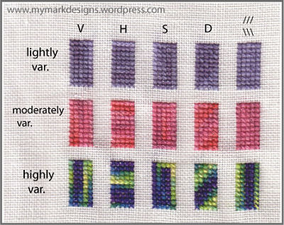 variagated thread pattern